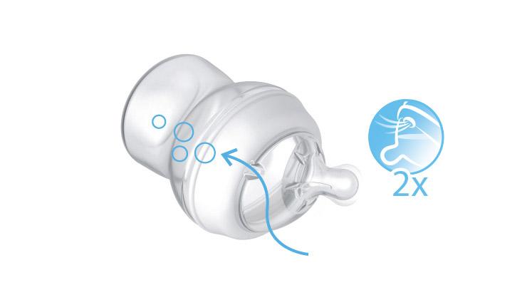 Двойной антиколиковый клапан